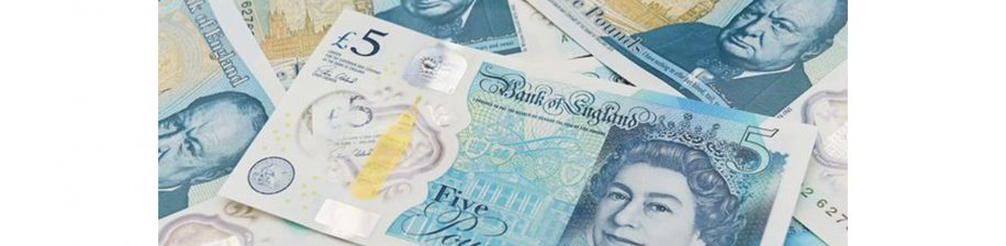 Pictures of £5 notes