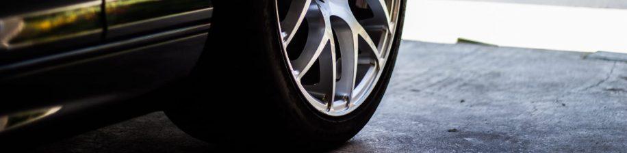 bottom of sports car wheel